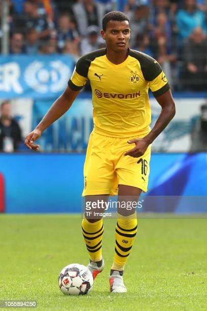 Manuel Akanji of Borussia Dortmund controls the ball during the Bundesliga match between TSG 1899 Hoffenheim and Borussia Dortmund at Wirsol...