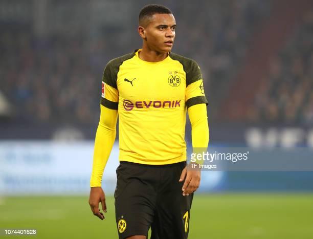 Manuel Akanji of Borussia Dortmund in action during the Bundesliga match between FC Schalke 04 and Borussia Dortmund at VeltinsArena on December 8...