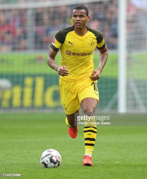 Manuel Akanji of Borussia Dortmund in action during the Bundesliga match between SportClub Freiburg and Borussia Dortmund at SchwarzwaldStadion on...