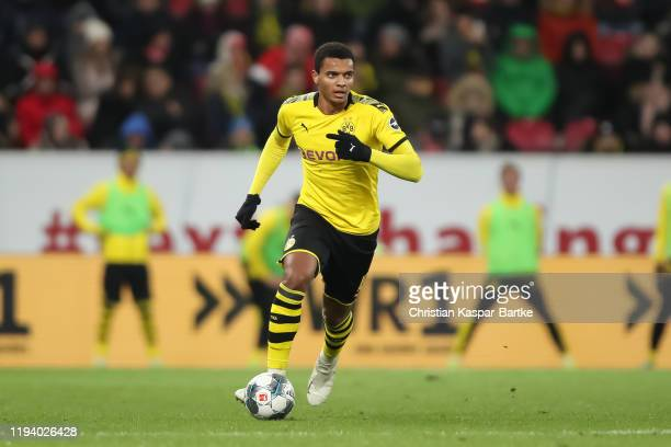 Manuel Akanji of Borussia Dortmund in action during the Bundesliga match between 1 FSV Mainz 05 and Borussia Dortmund at Opel Arena on December 14...
