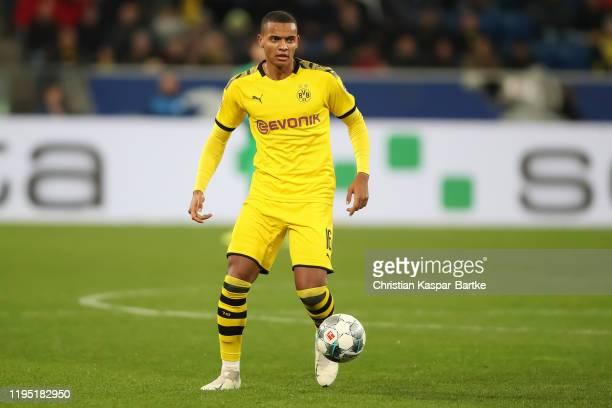 Manuel Akanji of Borussia Dortmund in action during the Bundesliga match between TSG 1899 Hoffenheim and Borussia Dortmund at PreZeroArena on...