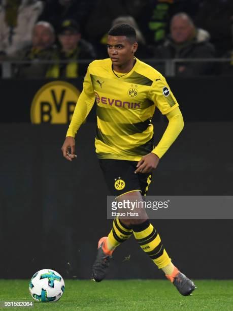 Manuel Akanji of Borussia Dortmund in action during the Bundesliga match between Borussia Dortmund and Eintracht Frankfurt at Signal Iduna Park on...