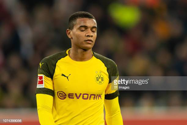 Manuel Akanji of Borussia Dortmund looks dejected during the Bundesliga match between Fortuna Duesseldorf and Borussia Dortmund at EspritArena on...
