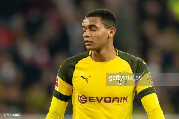 Manuel Akanji of Borussia Dortmund looks on during the Bundesliga match between Fortuna Duesseldorf and Borussia Dortmund at EspritArena on December...