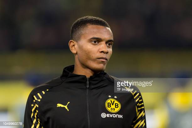 Manuel Akanji of Borussia Dortmund looks on prior the Group A match of the UEFA Champions League between Borussia Dortmund and AS Monaco at Signal...