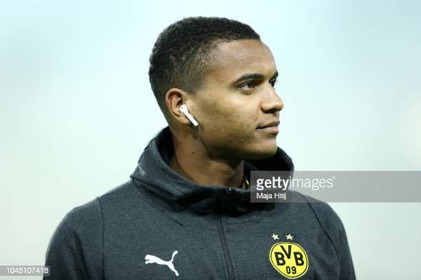 Manuel Akanji of Borussia Dortmund looks on prior to the Group A match of the UEFA Champions League between Borussia Dortmund and AS Monaco at Signal...