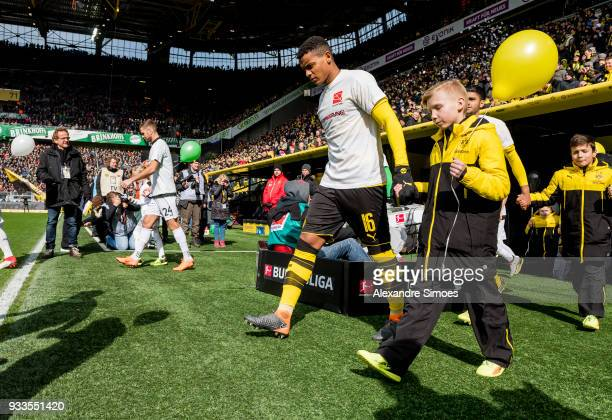 Manuel Akanji of Borussia Dortmund on his way to the pitch prior to the Bundesliga match between Borussia Dortmund and Hannover 96 at the Signal...