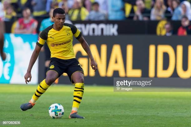 Manuel Akanji of Dortmund controls the ball during the Bundesliga match between Borussia Dortmund and 1 FSV Mainz 05 at Signal Iduna Park on May 5...