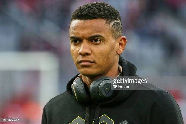 Manuel Akanji of Dortmund looks on prior to the Bundesliga match between Bayern Muenchen and Borussia Dortmund at Allianz Arena on March 31 2018 in...
