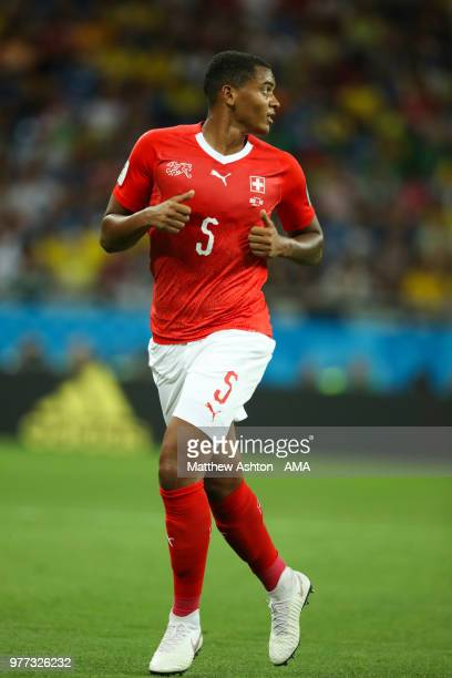 Manuel Akanji of Switzerland in action during the 2018 FIFA World Cup Russia group E match between Brazil and Switzerland at Rostov Arena on June 17...