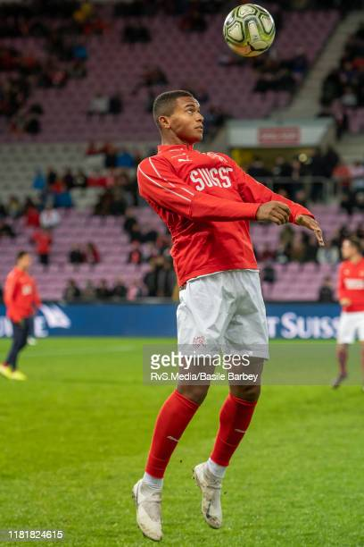Manuel Akanji of Switzerland in action during warm up prior to the UEFA Euro 2020 qualifier between Switzerland and Republic of Ireland on October 15...