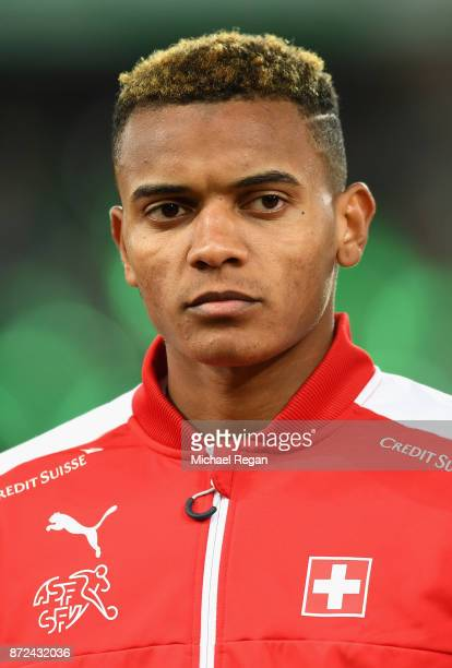 Manuel Akanji of Switzerland looks on during the FIFA 2018 World Cup Qualifier PlayOff First Leg between Northern Ireland and Switzerland at Windsor...