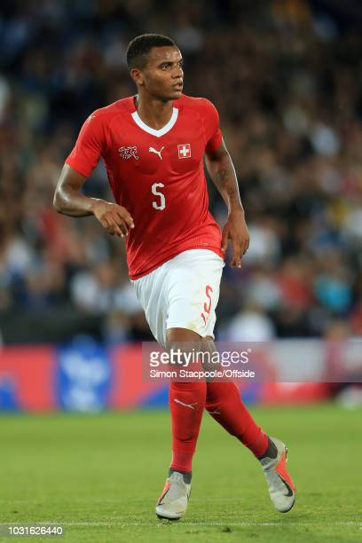 Manuel Akanji of Switzerland looks on during the International Friendly match between England and Switzerland at The King Power Stadium on September...