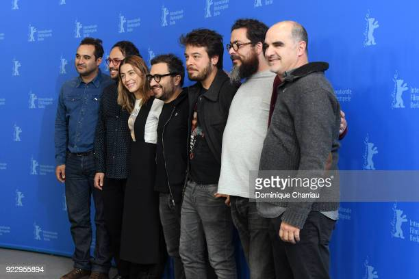 Manuel Alcala Gerardo Gatica Ilse Salas Alonso Ruizpalacios Leonardo Ortizgris Alberto Mueffelmann and Ramiro Ruiz pose at the 'Museum' photo call...