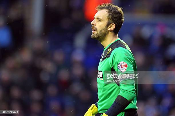 Manuel Almunia of Watford during the Sky Bet Championship match between Leicester City and Watford at The King Power Stadium on February 08, 2014 in...