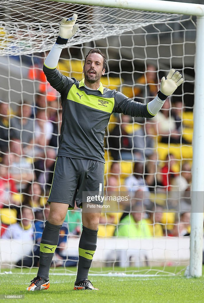 Manuel Almunia of Watford in action during the pre-season friendly match between Watford and Tottenham Hotspur at Vicarage Road on August 5, 2012 in Watford, United Kingdom.