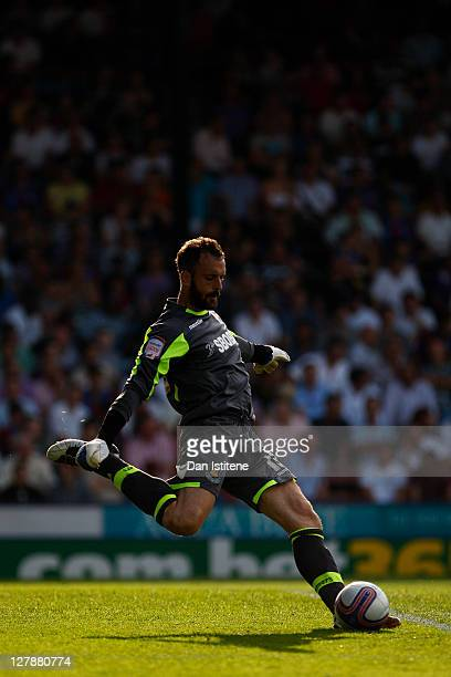 Manuel Almunia of West Ham in action during the npower Championship match between Crystal Palace and West Ham United at Selhurst Park on October 1,...