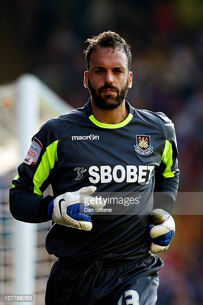 Manuel Almunia of West Ham looks on during the npower Championship match between Crystal Palace and West Ham United at Selhurst Park on October 1,...