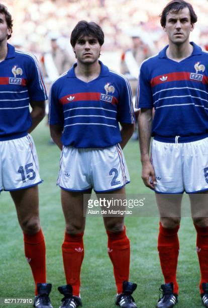 Manuel Amoros of France during the European Championship match between France and Denmark at Parc des Princes Paris France on 12th June 1984