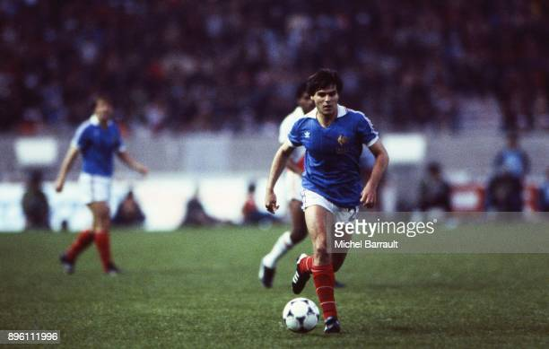Manuel Amoros of France during the International Friendly match between France and Peru at Parc des Princes in Paris on April 28th 1982
