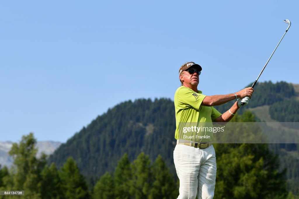 Manuel Angel Jimenez of Spain on the 12th during Day Two of the 2017 Omega European Masters at Crans-sur-Sierre Golf Club on September 8, 2017 in Crans-Montana, Switzerland.