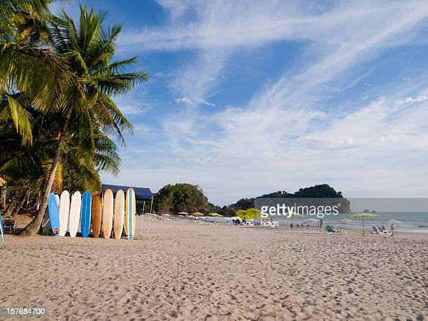 manuel antonio beach - costa rica stock photos and pictures