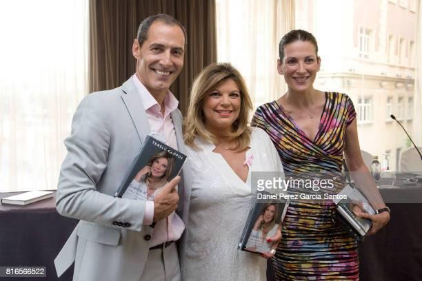 Manuel Bandera Terelu Campos and Remedios Cervantes attend the presentation of the new book 'Frente Al Espejo' on July 17 2017 in Malaga Spain