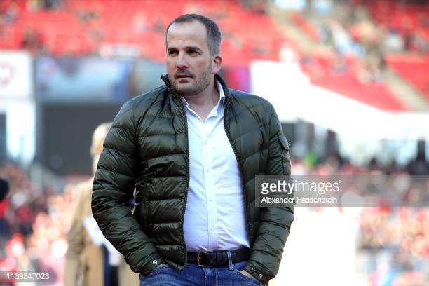 Manuel Baum, head coach of Augsburg looks on prior to the Bundesliga match between 1. FC Nuernberg and FC Augsburg at Max-Morlock-Stadion on March...