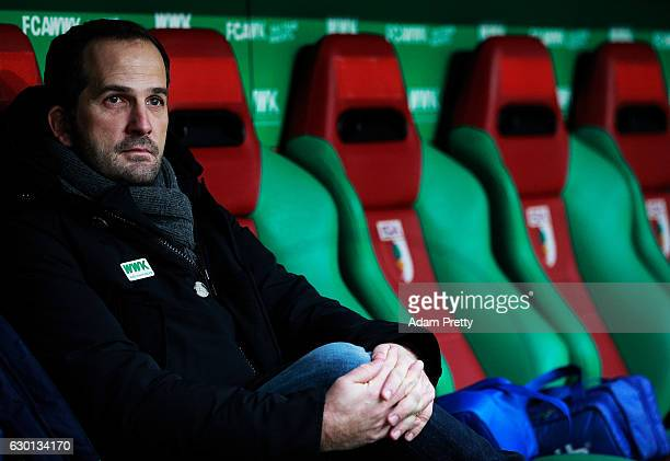 Manuel Baum head coach of FC Augsburg before the Bundesliga match between FC Augsburg and Borussia Moenchengladbach at WWK Arena on December 17, 2016...