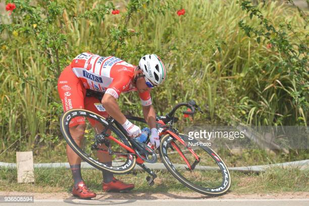 Manuel Belletti from Androni Giocattoli-Sidermec Team seen during the fifth stage, the mountain stage of 169.4km from Bentong to Cameron Highlands,...