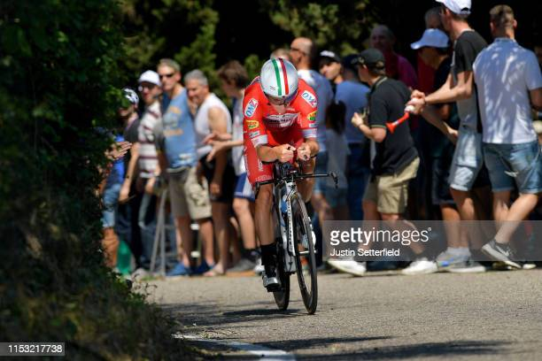 Manuel Belletti of Italy and Team Androni Giocattoli - Sidermec / Public / Fans / during the 102nd Giro d'Italia 2019, Stage 21 a 17km Individual...