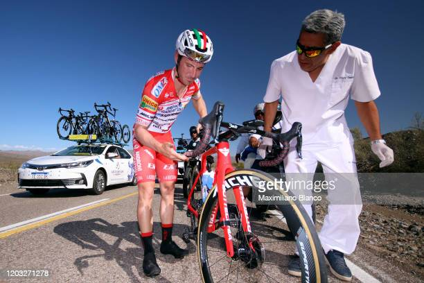 Manuel Belletti of Italy and Team Androni Giocattoli - Sidermec / Mechanical Problem / during the 38th Vuelta a San Juan International 2020, Stage 5...