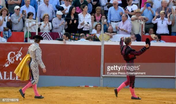 Manuel Benitez 'El Cordobes' and Julio Benitez perform on April 22 2017 in Palma Del Rio Spain