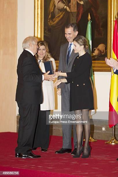 Manuel Benitez 'El Cordobes' Susana Diaz King Felipe of Spain and Queen Letizia of Spain attend 'Golden Medals Of Merit In Fine Arts' 2015 on...