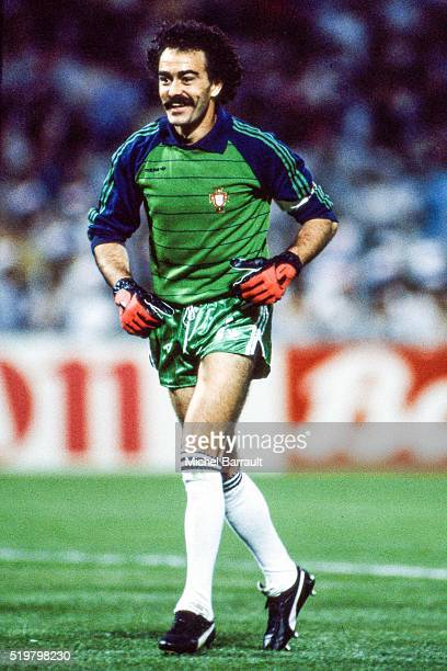 Manuel Bento of Portugal during the Semi Final Football European Championship between France and Portugal Marseille France on 23 June 1984