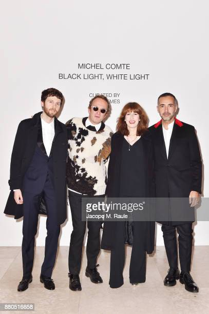 Manuel Bogliolo Massimiliano Locatelli Caroline Corbetta and Andrea Incontri attend Michel Comte Black Light White Light Opening at Triennale di...