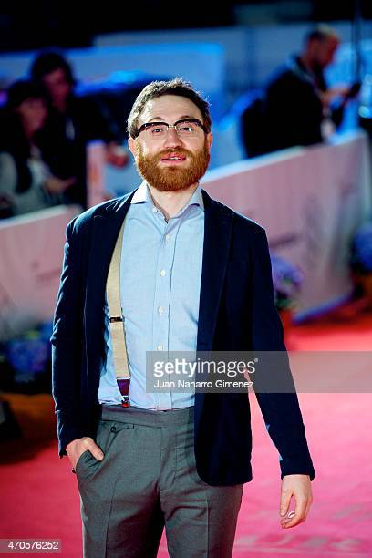 Manuel Burque attends the 'Requisitos Para Ser Una Persona Normal' premiere during the 18th Malaga Spanish Film Festival at Cervantes Theater on...