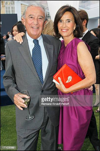 Manuel Canovas and his wife at Charity Dinner Sponsored By Longines Elegance Is An Attitude In Benefit Of Foundation Agassi At Museum Rodin In Paris