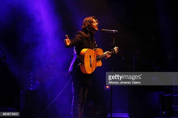 Manuel Carrasco performs in concert at Circo Price on January 23 2014 in Madrid Spain