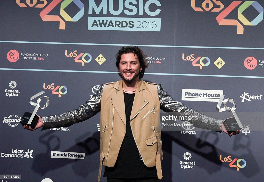 Los 40 Music Awards 2016 - Press Room