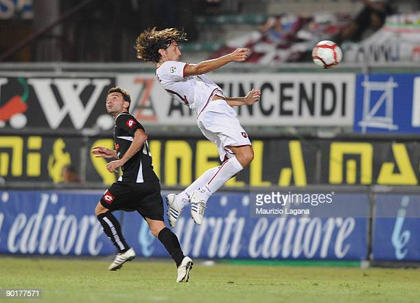 Manuel Cascione of Reggina is shown in action during Serie B match played between Reggina and Padova at Stadio Oreste Granillo on August 29 2009 in...