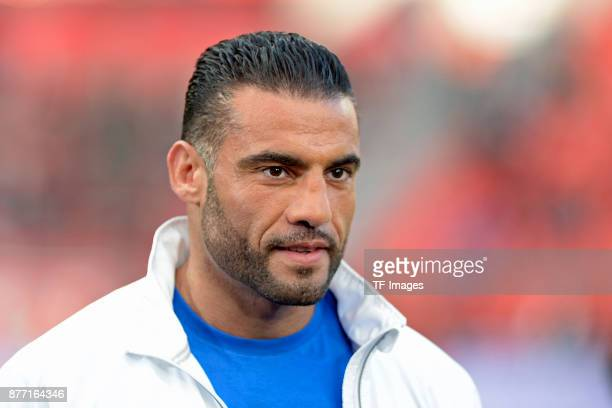 Manuel Charr looks on during the Bundesliga match between Bayer 04 Leverkusen and RB Leipzig at BayArena on November 18 2017 in Leverkusen Germany