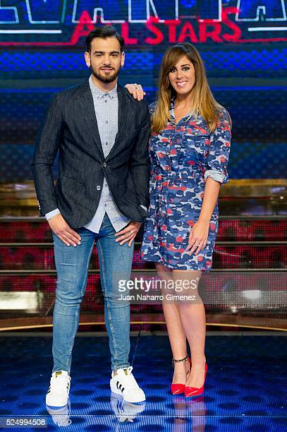 Manuel Cortes and Anabel Pantoja attend 'Levantate All Star' photocall at Estudias Picasso on April 27 2016 in Madrid Spain