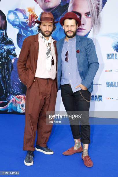 Manuel Cortez and his brother Philipp Cortez during the 'Valerian Die Stadt der Tausend Planeten' premiere at CineStar on July 19 2017 in Berlin...