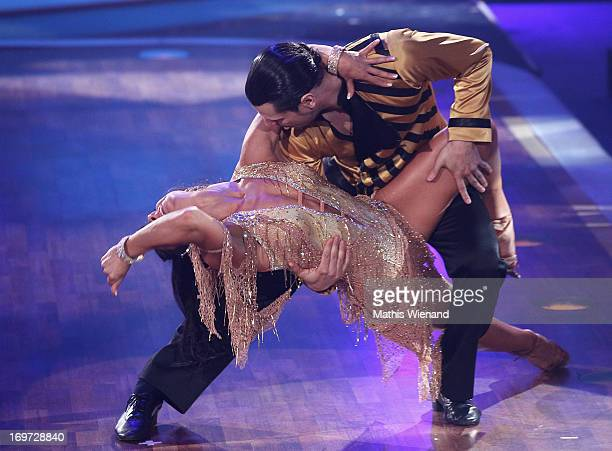 Manuel Cortez and Melissa OrtizGomez attend the Let's Dance Final at Coloneum on May 31 2013 in Cologne Germany