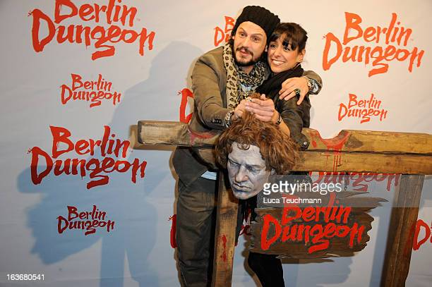 Manuel Cortez and Melissa OrtizGomez attend the opening of the Berlin Dungeon near Hackescher Markt in Berlin on March 14 2013 in Berlin Germany