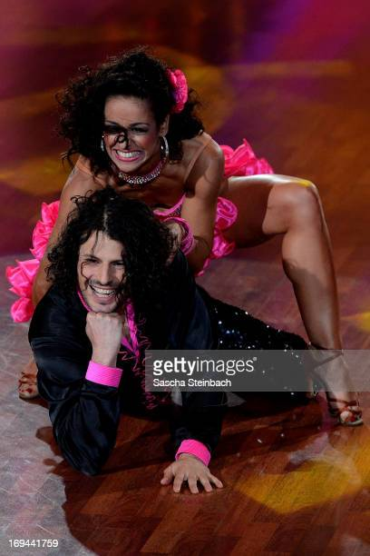 Manuel Cortez and Melissa OrtizGomez attend the Semi Finals of 'Let's Dance' at Coloneum on May 24 2013 in Cologne Germany