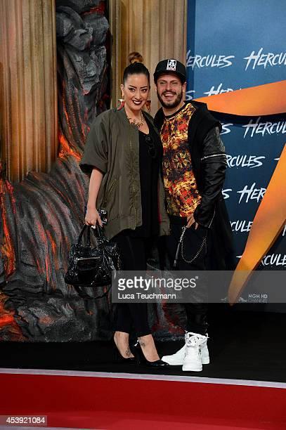 Manuel Cortez and Miyabi Kawai attend the European premiere of the film 'Hercules' at CineStar on August 21 2014 in Berlin Germany