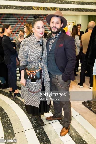 Manuel Cortez and Miyabi Kawai attend the Nobi Talai Pop Up opening at KaDeWe on January 11 2019 in Berlin Germany