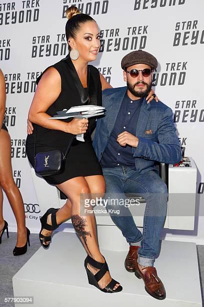 Manuel Cortez and Miyabi Kawai attend the VIP screening of the film 'Star Trek Beyond' at Zoopalast ton July 19 2016 in Berlin Germany